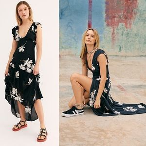 Free People Floral She's A Waterfall Maxi Dress